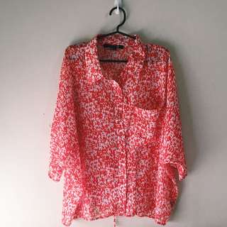 F21 Loose Button Up
