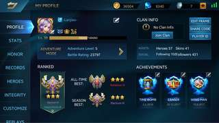 Heroes Evolved account