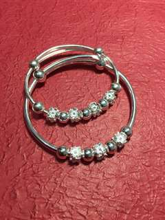 正生純銀 👩‍👧親子手鐲套裝 Mother-child silver bracelet set