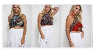 Paisley Midrib / Crop Top