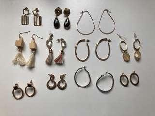 正韓dogoose和studio doe購買韓國耳環 11幅耳環組