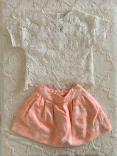 Gingersnap Top and Skirt
