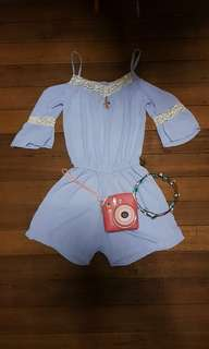 Baby Blue Romper Dress