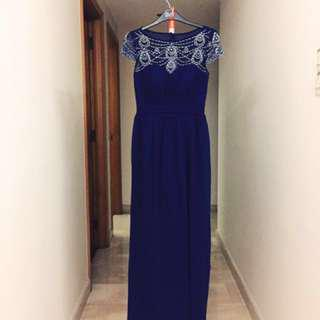 Beaded Evening Gown/Dress (royal blue)