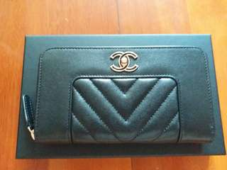 Chanel small zipped wallet