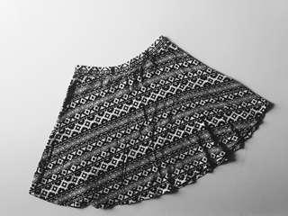 H&M Aztec Print Skater Skirt