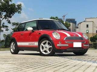 經典售:04年 MINI COOPER 1.6 亮麗紅色 》全景天窗 內裝極度完美 愛車人的車  經典車 經典優惠價