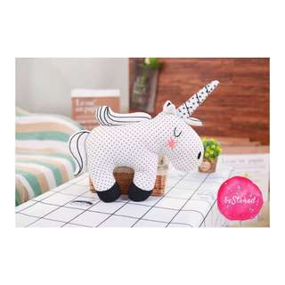 // Shy Plush Unicorn Soft Toy