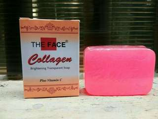 The face collgen soap