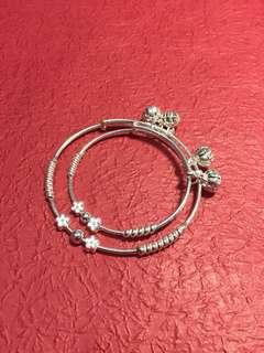 正生純銀 👩👧親子手鐲套裝 Mother-child silver bracelet set