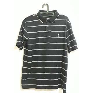 Original Marks and Spencer Black Stripes polo shirt