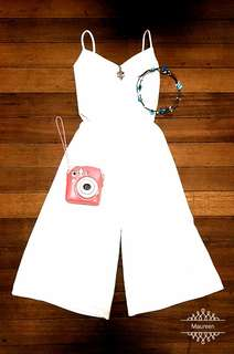 White Stylish Jumpsuit