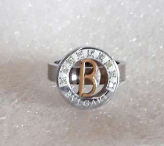 Euro design 2 tone stainless steel ring