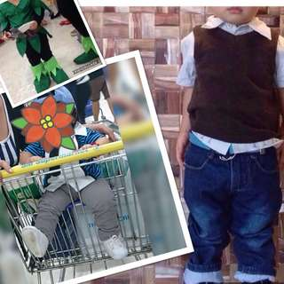 Vest with polo set +polo with tie + 1 pants free peter pan costume