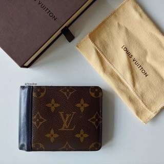 Authentic Louis Vuitton Monogram Macassar Gaspar Wallet LV