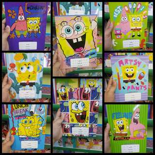 Spongebob and Patrick Writing Notebook