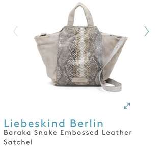 Liebeskind Berlin Baraka Snake Embossed Leather Satchel Bag