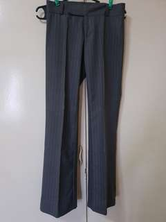 Women's Slacks / Office Pants (Gray Pinstripe)