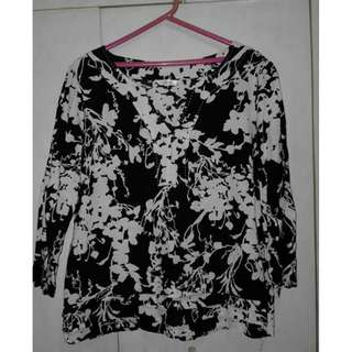 Marks and Spencer Black Tunic-Style Blouse