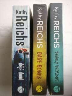 Kathy Reichs crime novels (Dr Temperance Brennan)