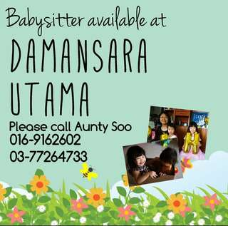Babysitter available at DU