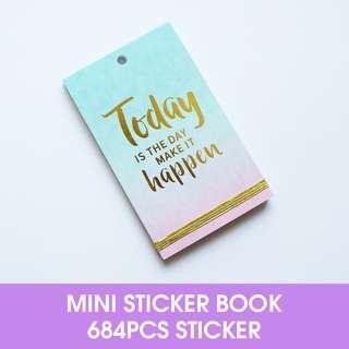 🚚 Today Happend Mini Sticker Book