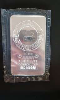 Royal Canadian Mint 10oz Silver Bar