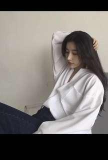 White oversize shirt
