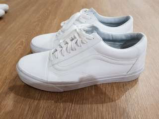 Vans Old Skool White Leather US10