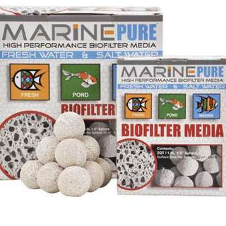 "$1.50 each Marine Pure Bio Filter Media 1.5"" Sphere"