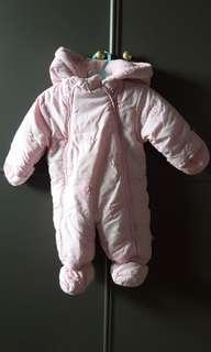 🚚 法國absorbs 嬰兒內刷毛保暖連身衣