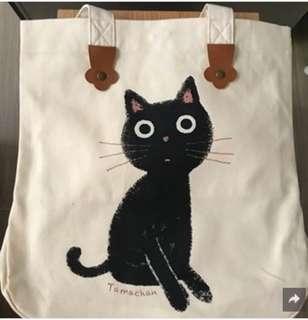《全新日本直送》貓貓單肩帆布袋(可放A4)Tote Bag