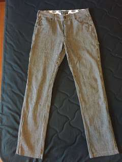 🚚 Dickies 長褲 中低腰 小直筒 黑白 斜紋 直紋 工匠 WD710