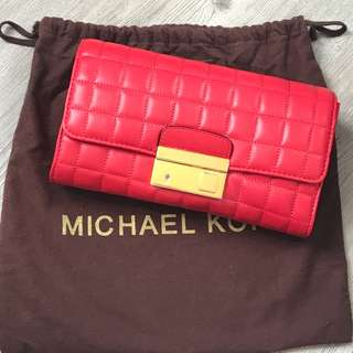 Michael Kors 真皮 紅色 Real Leather Bag