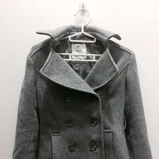 🚚 🖤NET灰色顯瘦排扣大衣🖤