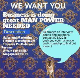 MARKETING POSITION AVAILABLE