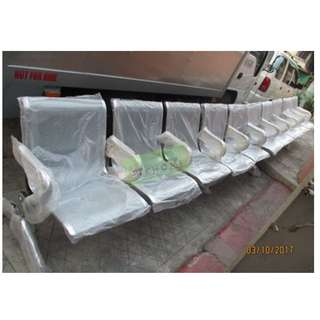 5 SEATER CHROME GANG CHAIRS INDIVIDUAL ARMREST--KHOMI