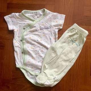 Osh Kosh Romper and Footed pants bundle set sleepwear