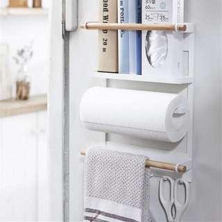 🚚 日式簡約創意設計磁力冰箱收納架/壁式收納架/廚房置物架