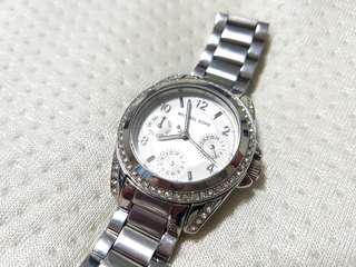 Michael Kors stainless steel cubic zirconia watch