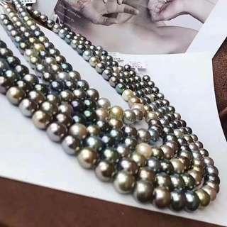 端午大福利🐲🐲歡迎咨詢訂購😊 大溪地黑珍珠簡10一13mm 正圓強光微微瑕。