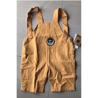 Kid Yellow suspender trousers 3Y