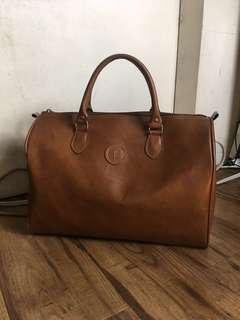 Leather Brown Duffel Bag