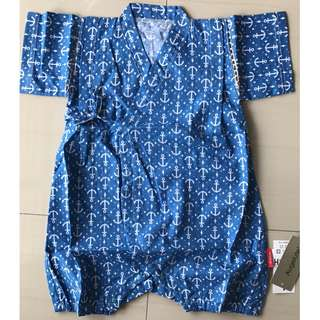 Blue Jinbei (Japanese Traditional Summer Clothes) 3Y