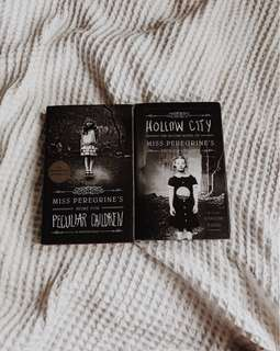 🖤 miss peregrine's home for peculiar children + hollow city [HARDCOVER] | ransom riggs
