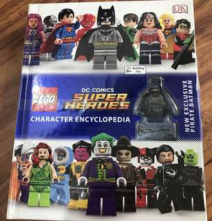 Lego DC superheroes encyclopedia with pirate Batman Minifigure