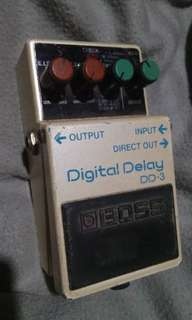 Boss DD3 Delay Pedal