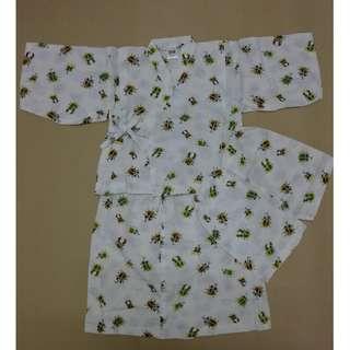 (WJ 0190-90) Japanese Style Kids Kimono Set (Top + Short Pants)