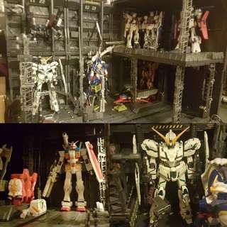 🌸特價賞🌸BANDAI Gundam 格納庫基地☂️完成品☂️