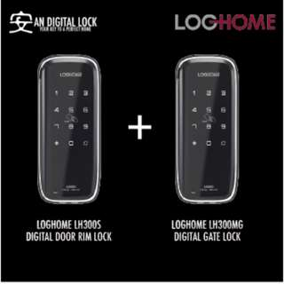 LOGHOME LH300S DIGITAL DOOR LOCK + LOGHOME LH300MG DIGITAL GATE LOCK BUNDLE